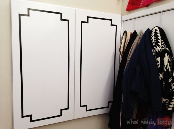 What Mandy Loves: Image of my decorated storage closet doors via www.whatmandyloves.com