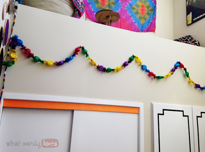 What Mandy Loves: Image of candy lights hung up in my bedroom via www.whatmandyloves.com