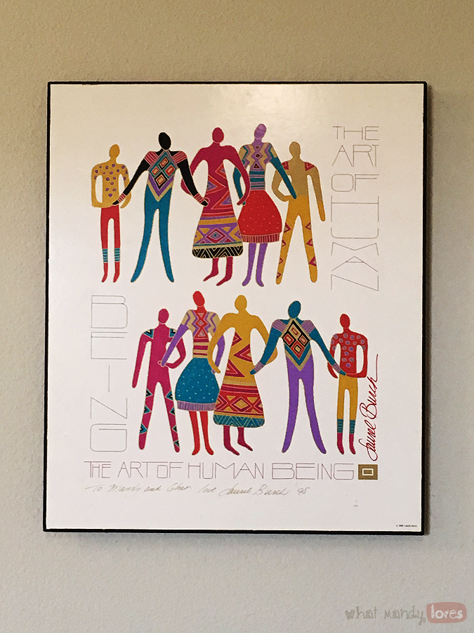 What Mandy Loves: Image of my Laurel Burch signed print in my hallway via www.whatmandyloves.com