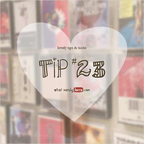 Lovely Tip #23: Display A Physical Music Collection On The Wall via www.whatmandyloves.com