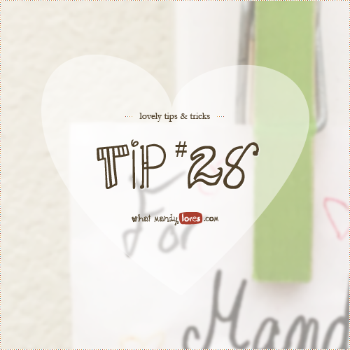 Lovely Tip #28: Clothespins as Memo Clips via www.whatmandyloves.com